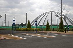 泉サッカー場・身障者用駐車場の写真